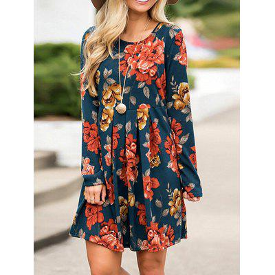 Women Print Comfortable Long Sleeve Dress