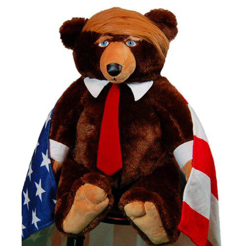 Trump Bear Children's Plush Toy BROWN 30CM HEIGHT