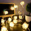 USB Plug-in Rose Flower Decoration Lichtslingers LED-lamp - CRYSTAL CREAM