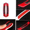 Car Carbon Fiber Wheel Eyebrow Safety Warning Reflective Sticker Red 4pcs - RUBY RED