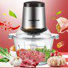 Double File Meat Grinder Multi-function Stainless Steel Mixer Stuffing Pepper Twisted Garlic Machine - WHITE