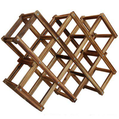 Wooden Red Wine Rack 10 Bottle Holder Mount Bar Display Shelf