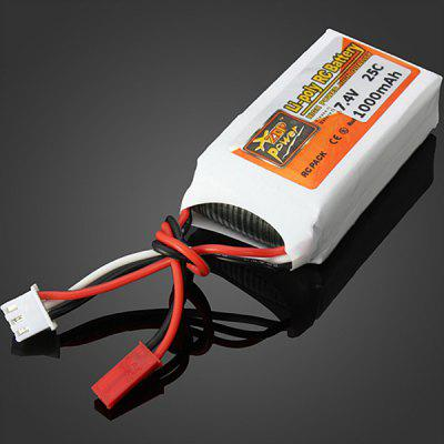 ZOP Power 7.4V 1000mAh 2S 25C JST Plug Lithium Battery