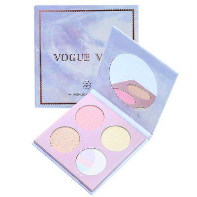 Marble High-gloss Eye-catching Four-color Eye Shadow Makeup