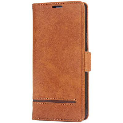 Leather Wallet Card Insertion Type Fall Protection Mobile Phone Case for Samsung S9 Plus