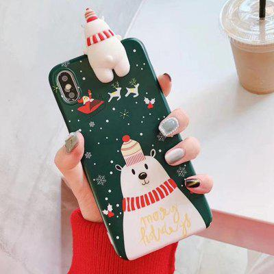 Christmas Bear Design Mobile Phone Case for iPhone X