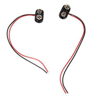 High Quality T Type 9V DC Battery Power Cable Leads Cord Plug Clip Jack Connector for Arduino DIY 5pcs