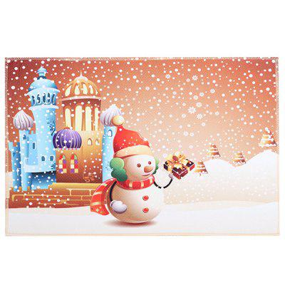 Decoratiuni de Craciun Cute Cartoon Non-alunecare covor Mat