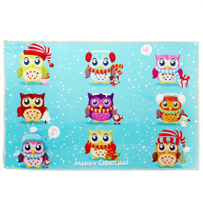 Christmas Decorations Cute Cartoon Non-slip Mat Carpet