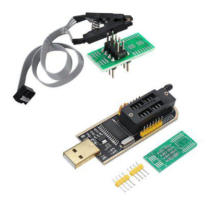 CH341A 24 Módulo de Programador USB Flash EEPROM 25 25 Séries + SOIC8 Clip On-Board
