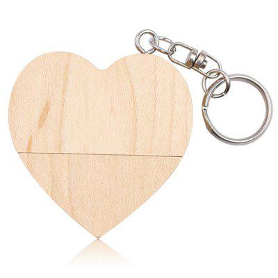 Wooden Heart-shaped USB Flash Drive