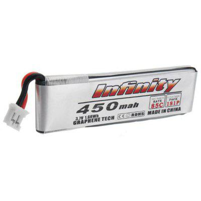 1S 3.7V 450mAh 85C Hollow Cup Brushed Four-axis Battery