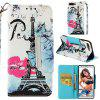Painted TPU + PU Leather Mobile Phone Case Anti-fall Protection Cover for Huawei Honor 7C - MULTI-A