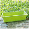 Large Candy Color Series Rectangular Resin Flower Pot with Tray - CHARTREUSE
