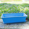 Medium Candy Color Series Balcony Resin Flower Pot with Tray - CRYSTAL BLUE