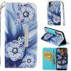 Painted TPU + PU Leather Mobile Phone Case Wallet Card Inserted Card Anti-fall Protection Cover for Huawei P20 - MULTI-A