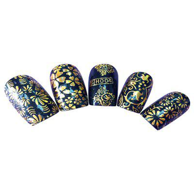 H004 3D Bronzing Decal Waterproof Durable Nail Sticker
