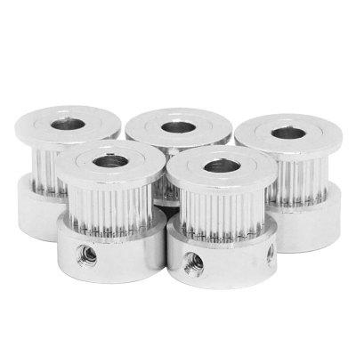 GT2 - 20 Tooth Timing Pulley Aluminum 3D Printer Parts Screw Teeth