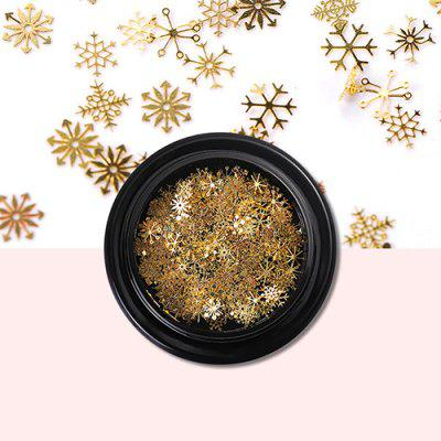 Jóias Snowflake Sequin Nail Sticker 100pcs