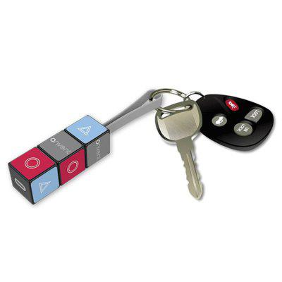 8 Pin / Micro USB 2 in 1 Magic Cube Key Ring Charging Data Cable