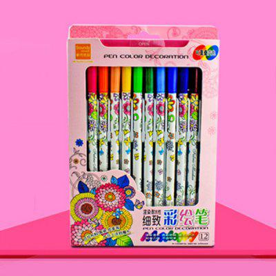 Personality DIY Graffiti Handmade Painted Pen for Cloth Art 12pcs