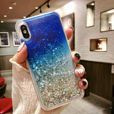 Cute Luxury Sparkly Crystal Liquid Quicksand Silicone Shockproof Protective Cover Case for iPhone X