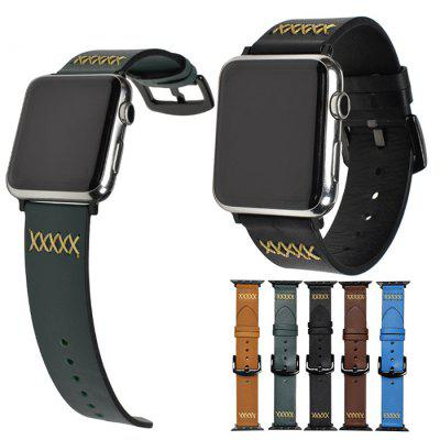 Applicable To Watch Leather Strap Apple Watch Belt Stainless Steel Iwatch Watch Strap