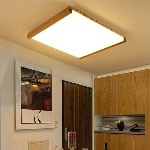 Led Ceiling Lamp Square Solid Wood Simple Modern Japanese Nordic Living Room Light