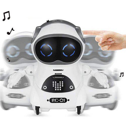 Electric Multi-function Voice Intelligent Mini Pocket Robot - WHITE