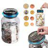 Digital LCD Screen Automatically Counts Piggy Bank - MILK WHITE