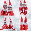 Christmas Elf Toy Decoration Plush Dolls 2pcs - RED