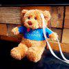 Cute Couple Bear Stereo Plush Doll Protector Case for iPhone 8 - ORANGE GOLD