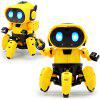 DIY Six-claw Robot Infrared Sensor Intelligent STEM Education Interactive Toy - YELLOW
