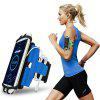 Rotatable Mobile Phone Arm Bag Running Mountaineering Riding Multi-function Outdoor Wrist Pack - CRYSTAL BLUE