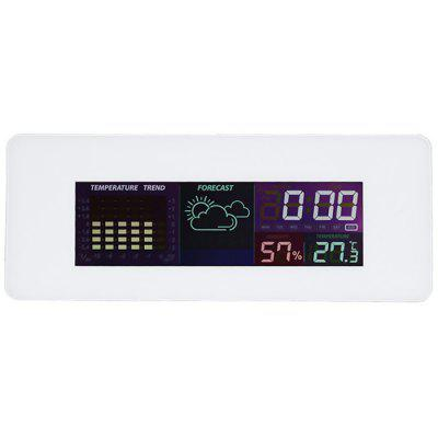 Color Screen Indoor Clock with Calendar Thermometer Hygrometer