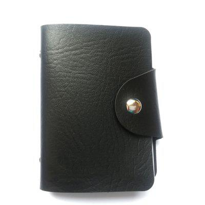 X Pattern Leather Case Sleeve Two-Sided 12 Holders for Bank Credit Card