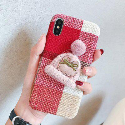Plaid Creative Wool Hat Mobile Phone Case for iPhone Xs Max