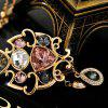 MY - 0029 Openwork Color Crystal Long Necklace - MULTI