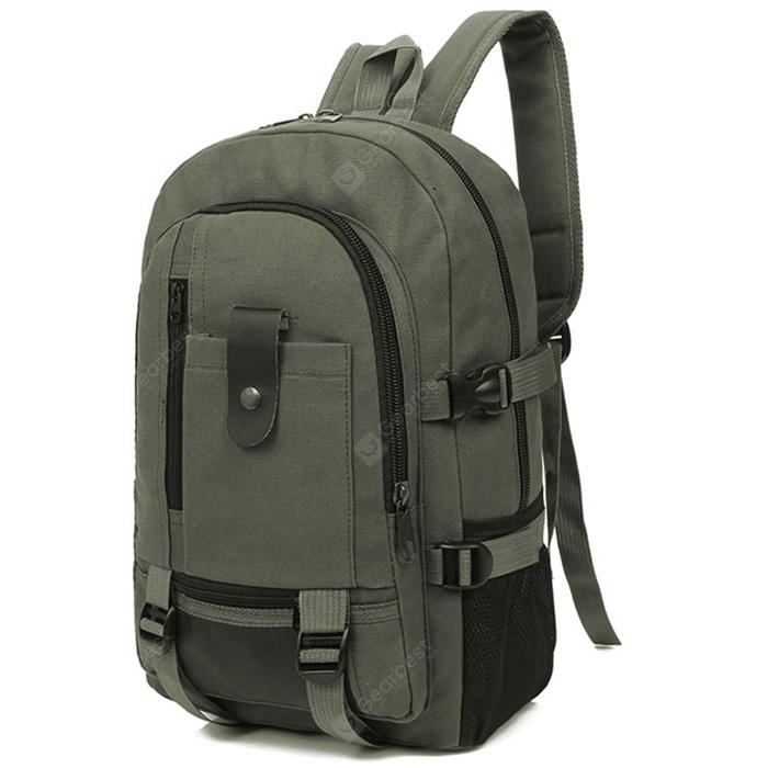 Men Trendy Outdoor <b>Large Capacity Canvas</b> Backpack | Gearbest