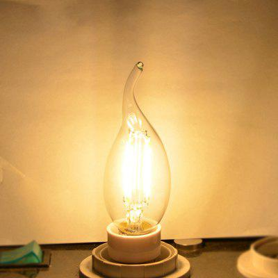 YWXLight E14 4-LED Retro Candle Dimmable Light Bulb 4W Chandelier