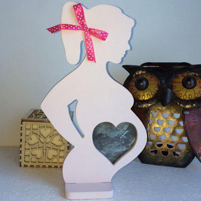 Wooden Photo Frame Pregnant Woman Decoration