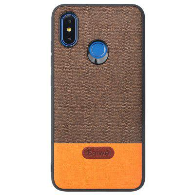 iBaiwei Stitching Veneer Shatter-resistant Mobile Phone Case for Xiaomi 8