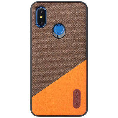iBaiwei PU Fabric Stitching Veneer Mobile Phone Case for Xiaomi Mi 8
