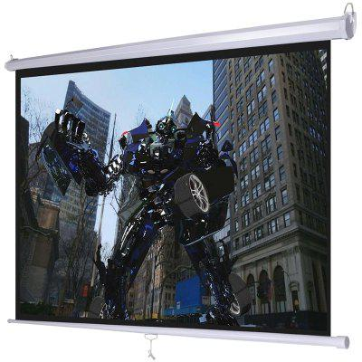 HD Projector Screen 72 inch 4:3 Format Manual Pull Down Wall / Ceiling Mount 1.1 Gain Portable Foldaway Movie Curtain