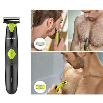 180 Degrees Waterproof Rechargeable Electric Razor Shaver