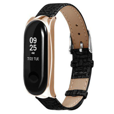 TAMISTER Leather Replacement Wristband for Xiaomi Mi Band 3