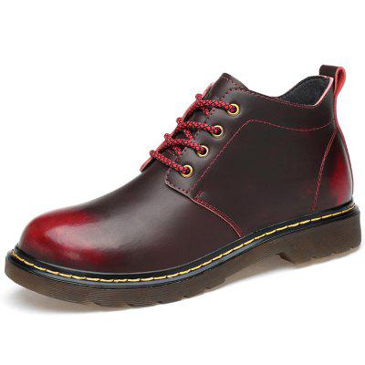 Men Comfortable Plus Down Casual Leather Boots
