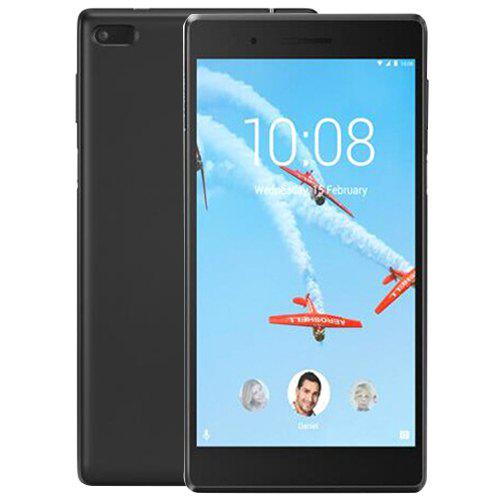 Gearbest Lenovo TAB4 TB - 7304N 4G Phablet - BLACK 7.0 inch Android 6.0 MT8735 Quad Core 1.0GHz