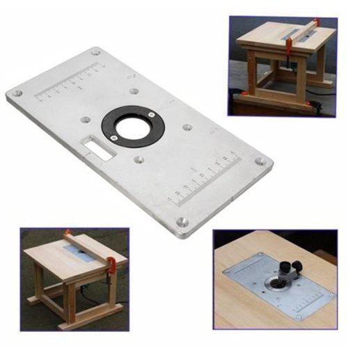 Aluminum Router Table Insert Plate with Insert Rings for Woodworking Benches 35