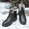 Men Outdoor Thermal Brushed Cotton Boots - BLACK
